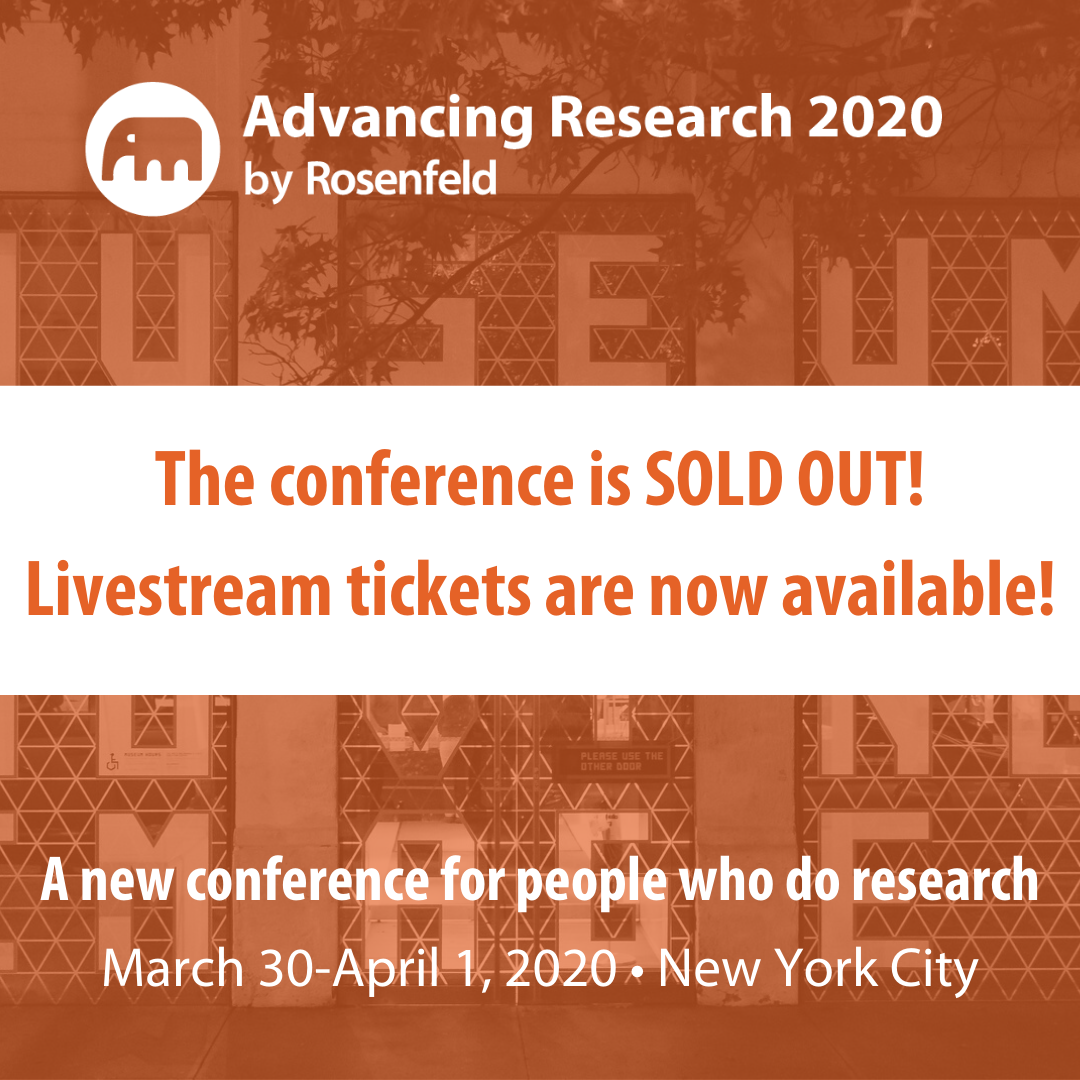 Advancing research livestream conference tickets