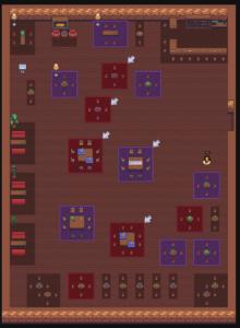 Gather Town virtual game map