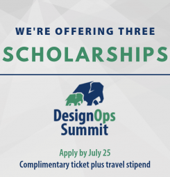 DesignOps Summit Scholarship Winners will be Announced August 20