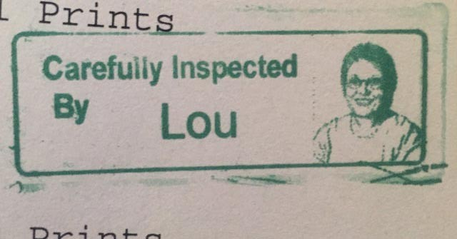 inspected by Lou