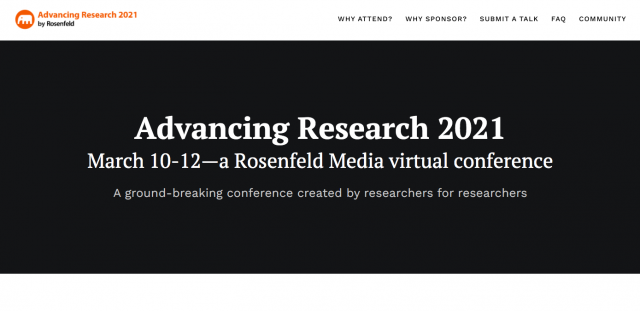 Virtual Conference: Advancing Research 2021