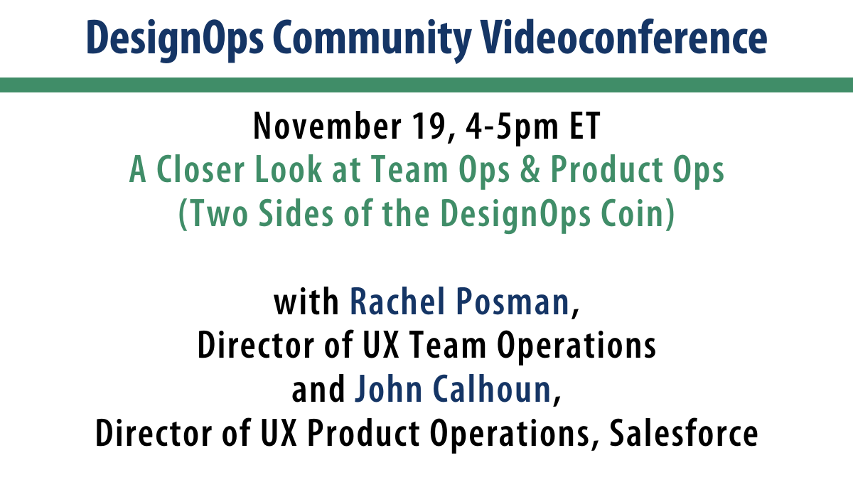 A Closer Look at Team Ops & Product Ops (Two Sides of the DesignOps Coin)