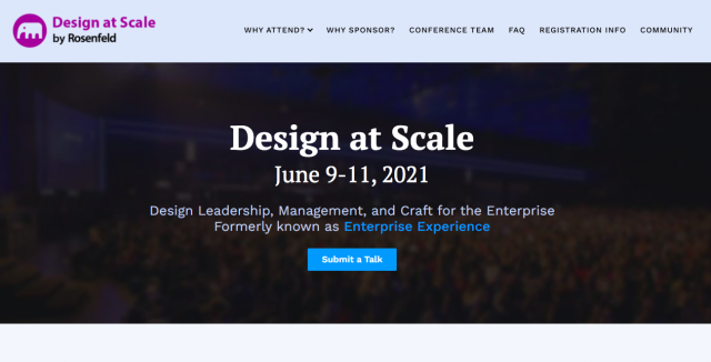 Virtual Conference: Design at Scale 2021