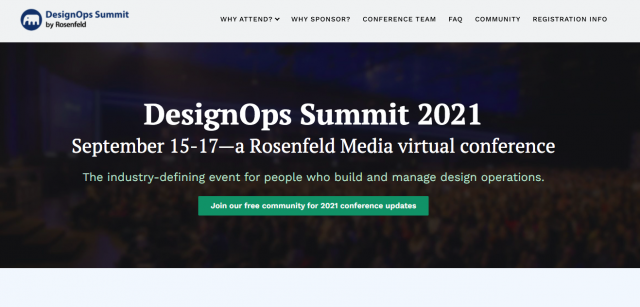 Virtual Conference: DesignOps Summit 2021