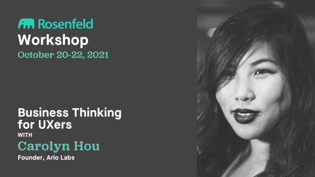 Workshop—Business Thinking for UXers