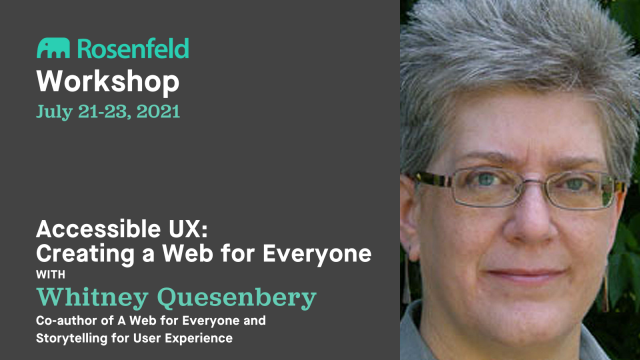 Workshop—Accessible UX: Creating a web for everyone