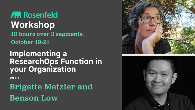 Workshop: Implementing a ResearchOps Function in your Organization